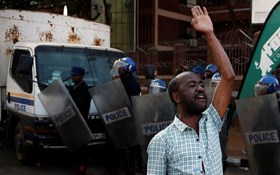 Post-election clashes in Zimbabwe